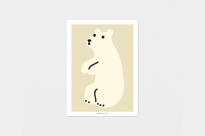 HUGGY BEAR CREAM - POST CARD