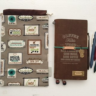 hairmo coffee tag handbook bag (TN / hobo / notepad / log)
