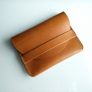 Handmade leather card case / coin purse / earphone case