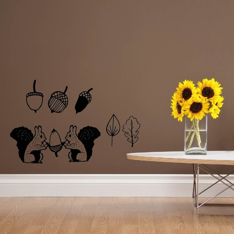 """Smart Design"" creative wall stickers Seamless squirrel interest ◆ 8 color options"