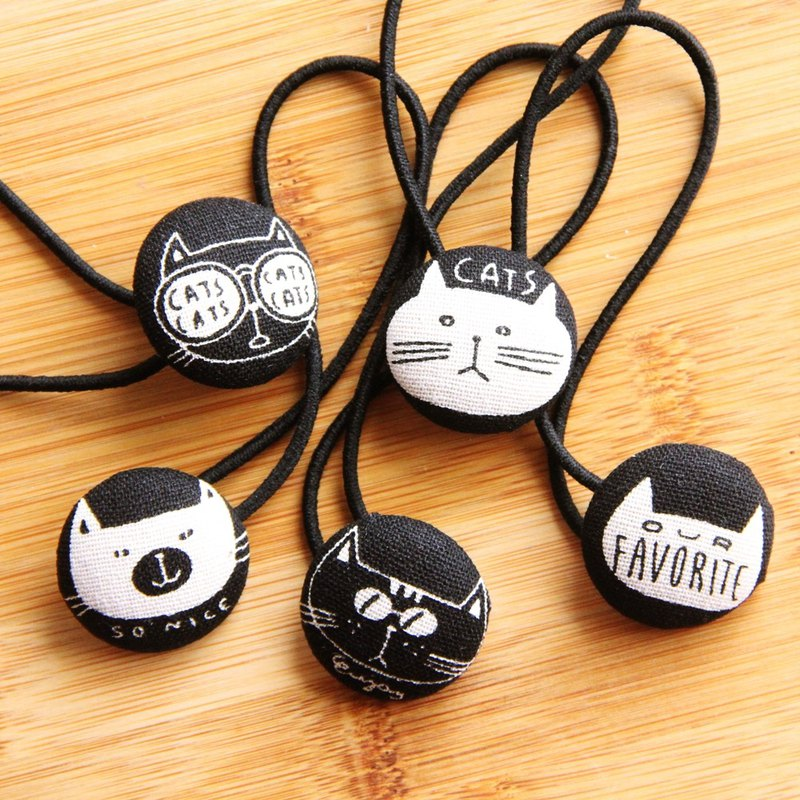Wen Qingfeng cute hair bag buckle cool handsome cat 5 1 group hair banding personality exchange gift