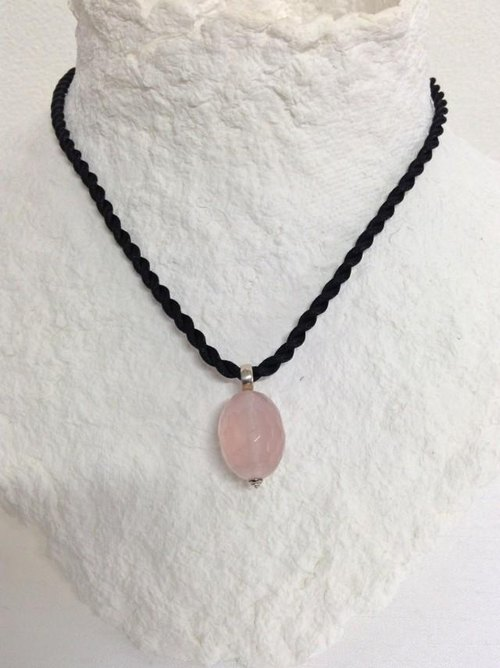 SALE rose quartz necklace