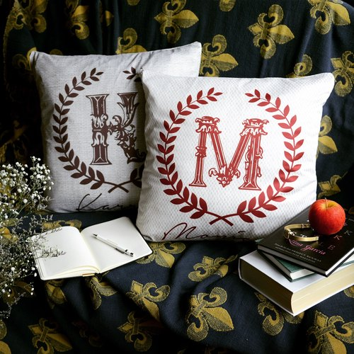 Customized Cushion/ Pillowcase (1 Pair) - Classic Series ♥ Perfect for Anniversary Gift / Bridal Shower / Birthday Gift!