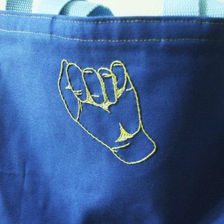 ◄ ► 0:00 shy sign language // - Hand embroidered canvas bag