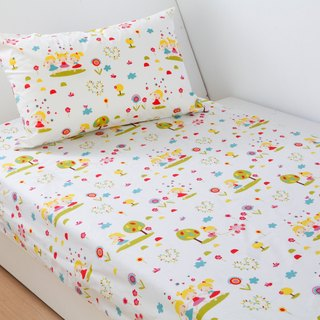 Anti-mite waterproof breathable cotton bedding bed bag pillow set <happy doll> single cleaning pad diapers mat waterproof pad