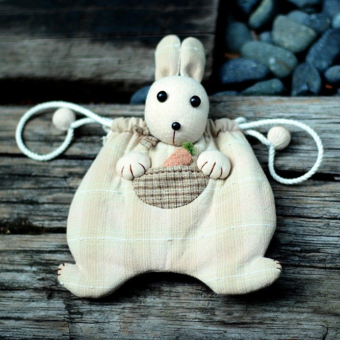 ❖ handmade material package - greedy rabbit cute debris beam port package ❖
