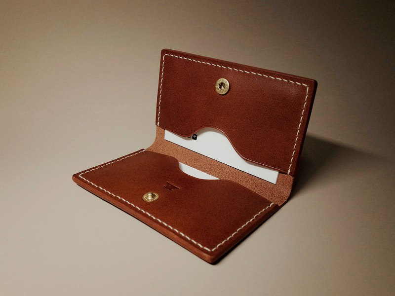 Leather Card Holder (2 colors / engraving service)