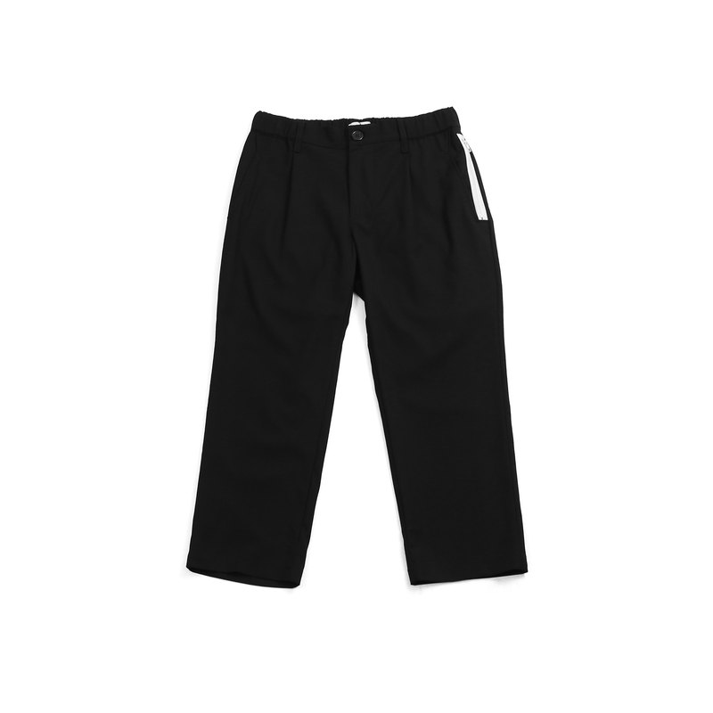 [ionism] narrow tube suit pants black