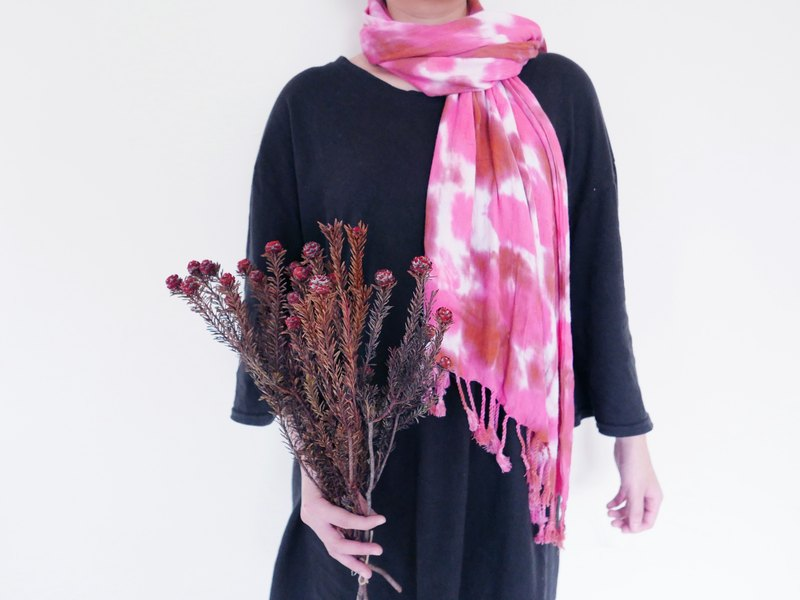 : Extension: Scarf tassel shawl hand dyed dyed birthday gift Valentine's Day Mother's Day