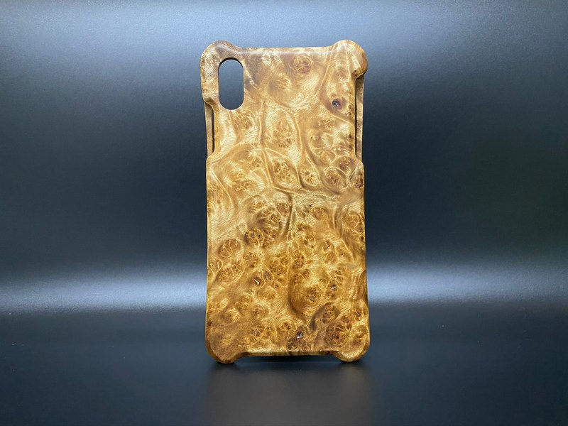 iPhone X series Burmese gold eucalyptus tumor wood shell (full of tumors)