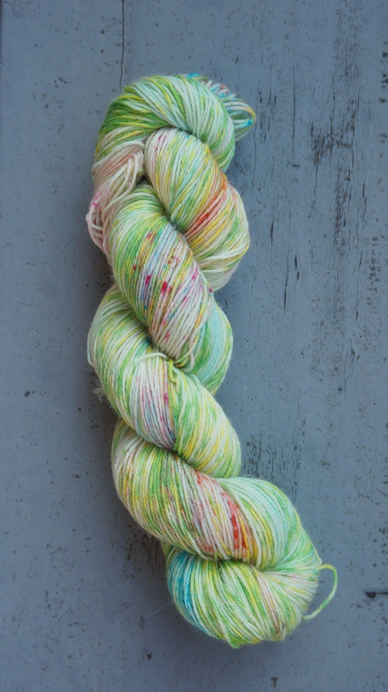 Hand dyed the line. Fairy Tale (BFL)
