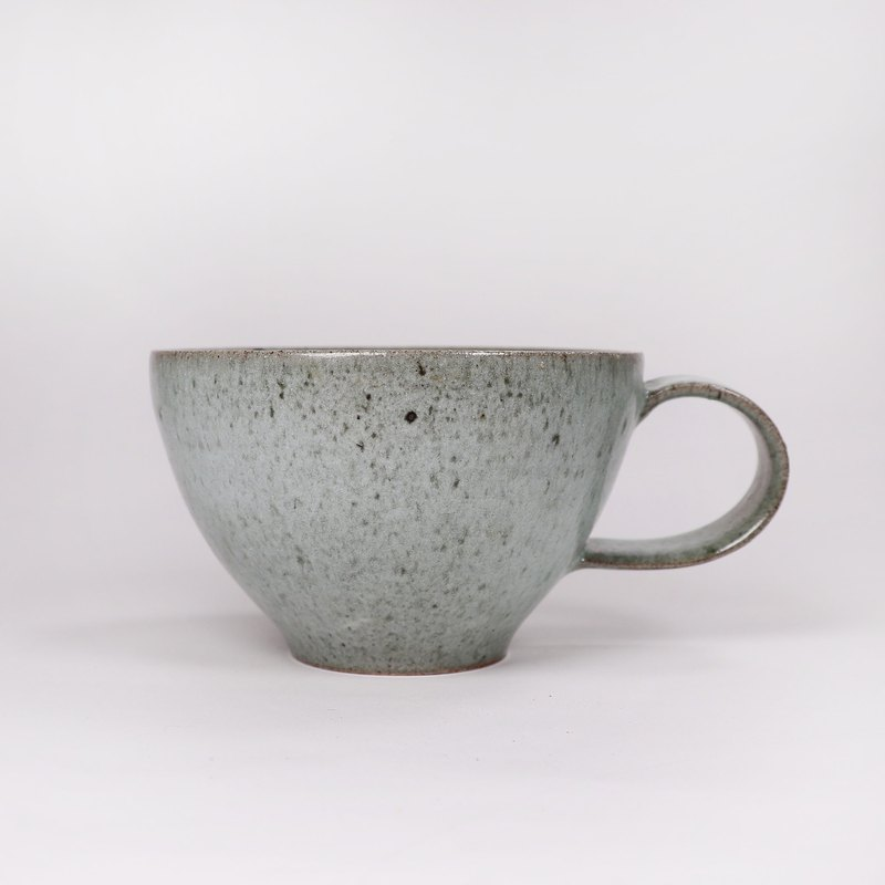 Ming bud kiln l Japanese style simple gray glaze iron spot coffee cup latte cup