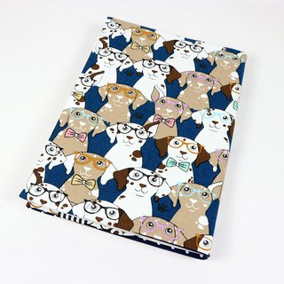 A5 Cloth book cover mother book cloth book cover book - Dalmatian dog (blue)