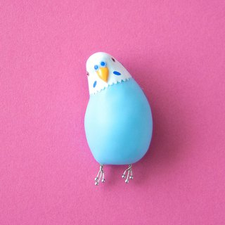 Cocking parakeet brooch [aqua]
