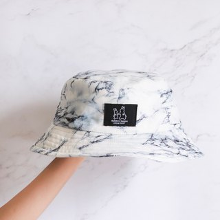 White marble fisherman hat