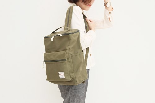 BUCKET BEAM BAG : GREEN COLOR