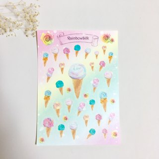 washi masking sticker 【yarn icecream】