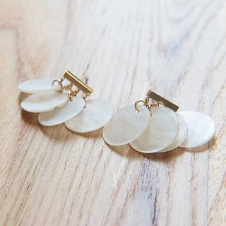 Moonstone Soda Stone Brass Earrings 1101-Songs