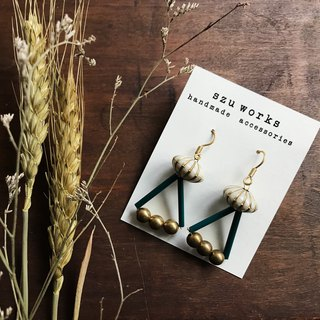 Flat Star Triangle Brass Earrings