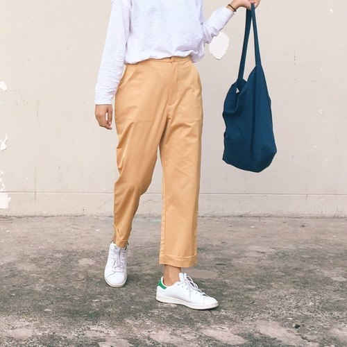 Yellow mustard pants