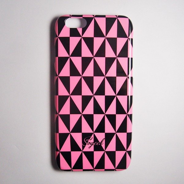SO GEEK phone shell design brand THE CHECK PRINT GEEK shine Plaid subsection (black powder)