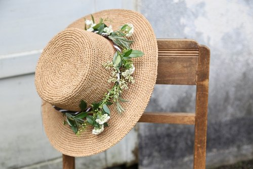 French Rafi straw hat 8CM