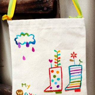 [Pure hand-painted] small size with tote bag | flat type | thick canvas | cute style