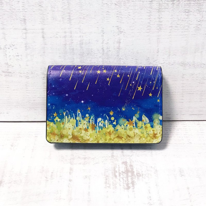 Card Case Starry night / Business Card Holder / Office Worker / GALAXY / star