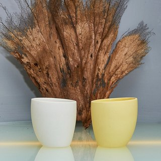 [3, co] ocean seabirds small cup (two color group) - white + yellow
