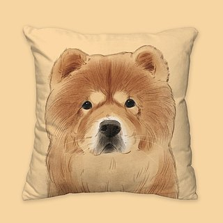 [I will love you forever] Classic Chow Chow Pillow Animal Pillow / Pillow / Cushion