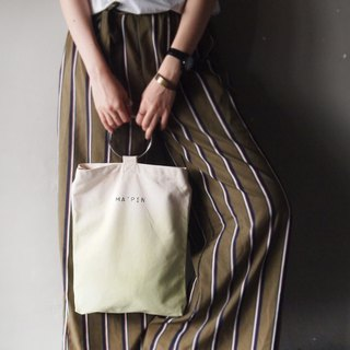 Grass Green Gradient - Hand Dye Tote