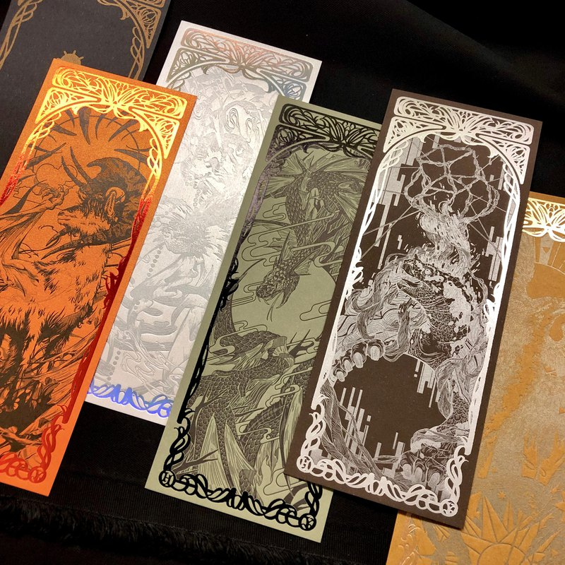 The Wu Xing - Letterpress bookmark - edition limited