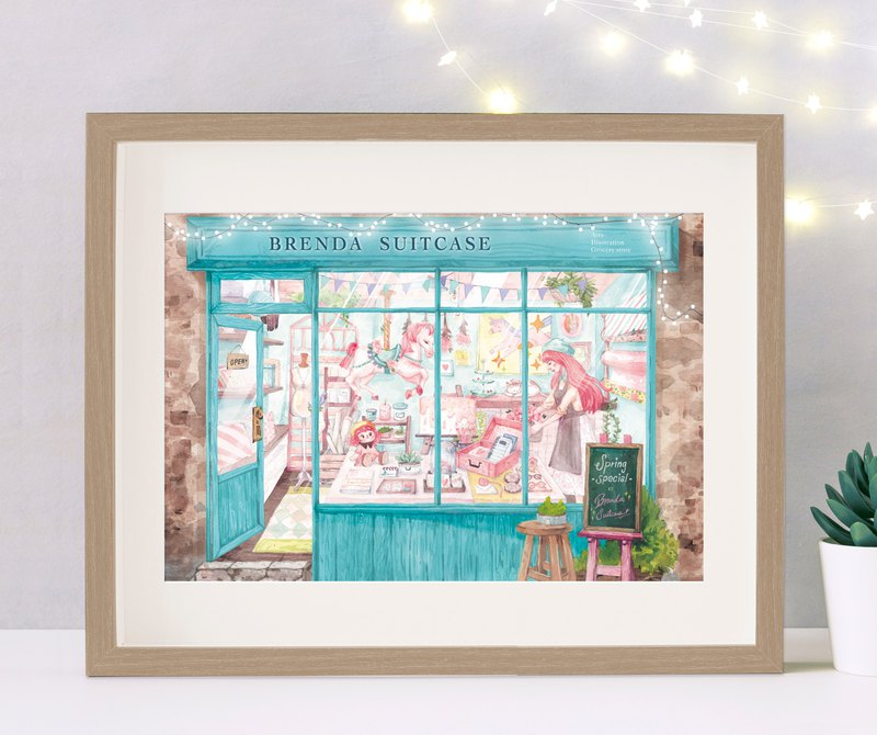 Ideal Grocery - A3 Copy Painting Poster / Watercolor Paper Copy Print Original Illustration