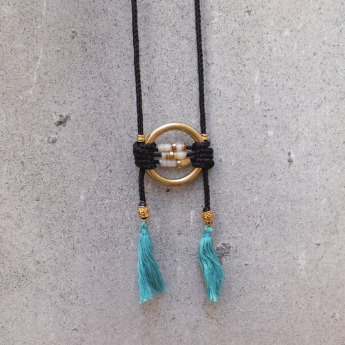 Libra - braid long necklace