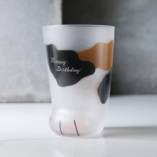 300cc (3 colors) cat foot cup super cute meat ball cat cup glass engraving customization
