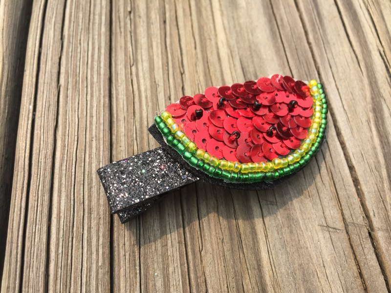 Sequins hairpin watermelon