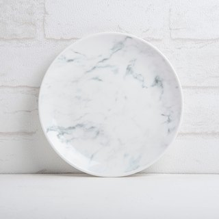 Marbled 20 cm porcelain disc