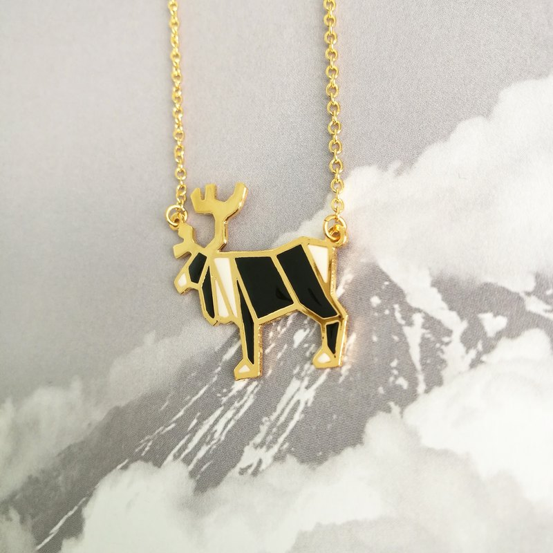 Glorikami Black Moose Origami Necklace