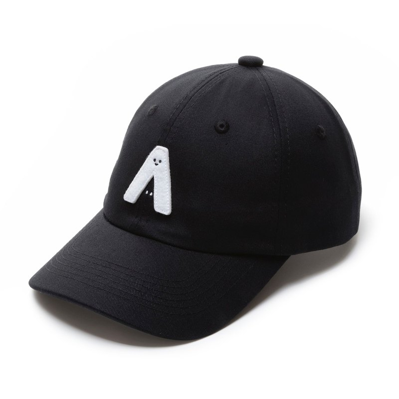 With me! Three-dimensional embroidered retro baseball cap / black models