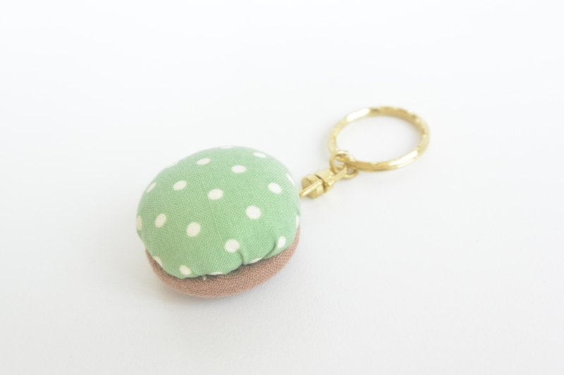 Soft key ring - jade green water