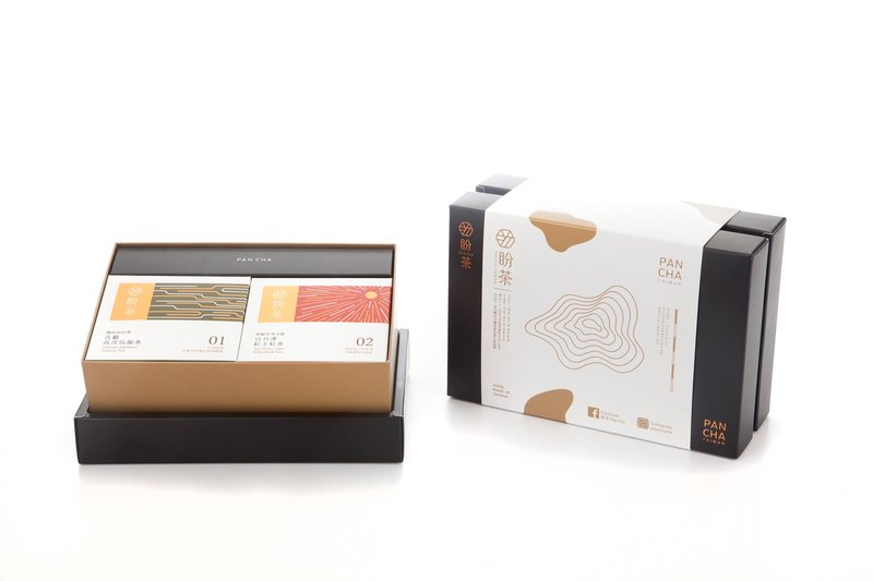 Pan Tea-Taiwan Haohao Tea Bag Gift Box (with four tea flavors at a time)