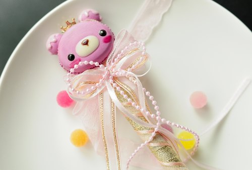 Sweet Dream ☆ Crown Bear Macaron ice cream styling signature pen / wedding was a small birthday gift wedding props bride sister