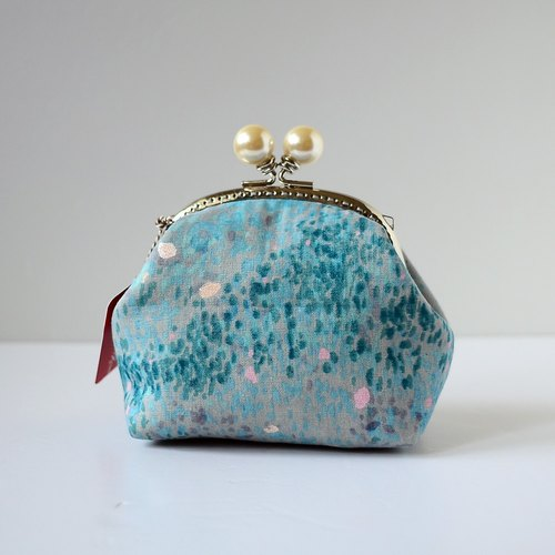 Cosmetic Frame Purse - Galaxy blue - Portable and multiple purposes