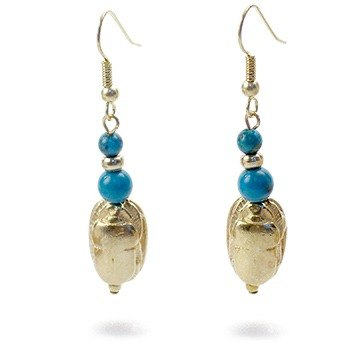 Ancient Egyptian scarab earrings