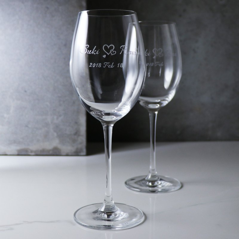 (a pair of prices) 355cc Bangkok [Lucaris crystal name to the cup] heart-to-heart pair wedding