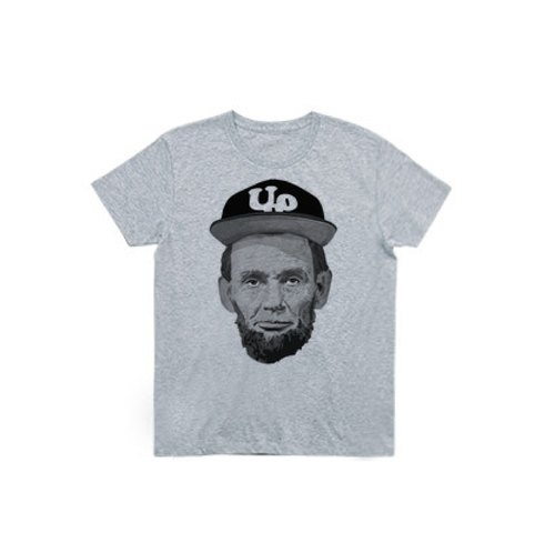 Abraham Lincoln Outdoor (4.0oz T-shirt gray)