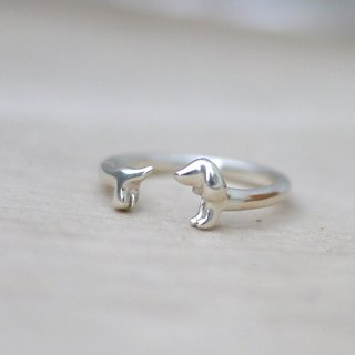 [Jewelry] Jin Xialin ‧ chasing tail sausage ring - baby Silver Edition