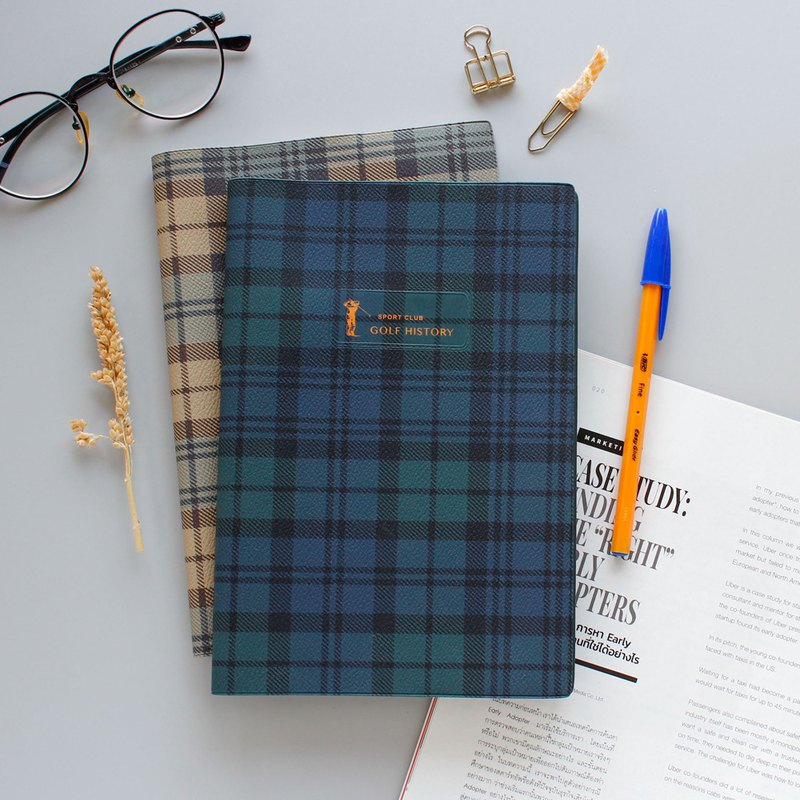 Classic Plaid Rubber Notebook - Medium (25K)