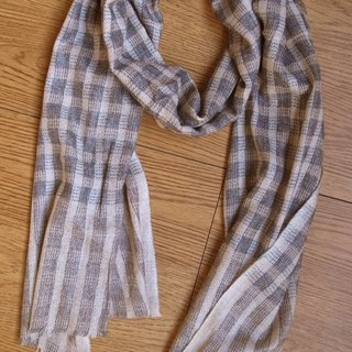 Cashmere Stripes Shawl / Scarf / Stole Brown