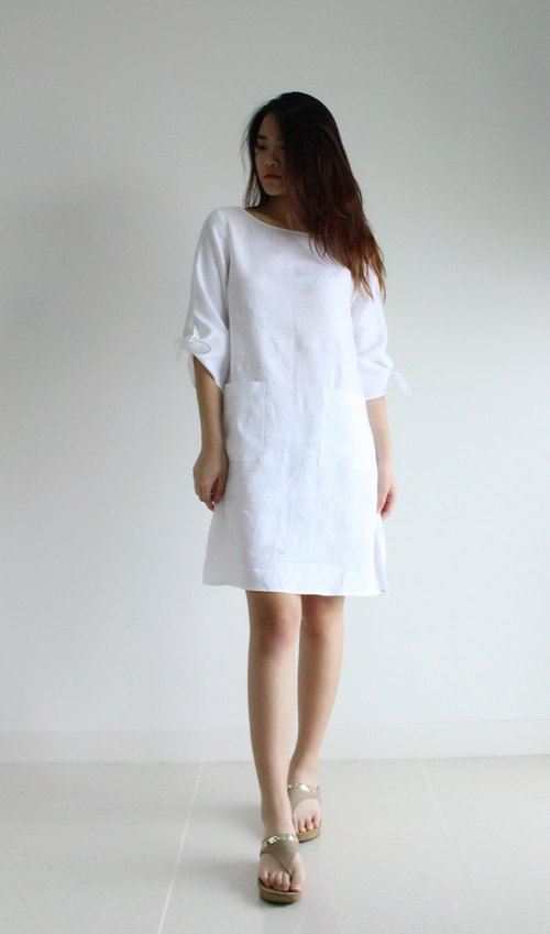 Made to order linen dress / linen clothing / natural linen dress / casual dress / women clothing / E20D